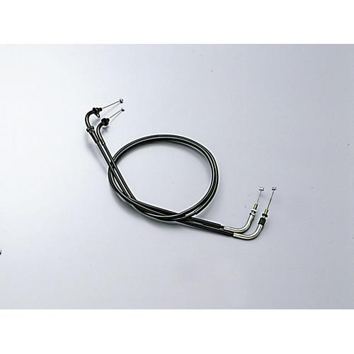 HB6325-10 ロング スロットルケーブル W ブラック