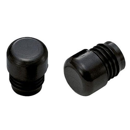 204-110 バーエンド ナイロン 内径17-18mm ブラック 2個SET