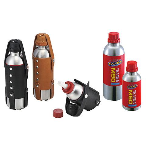 ガソリンボトル&レザーホルダーセット 900ccボトル/ブラック