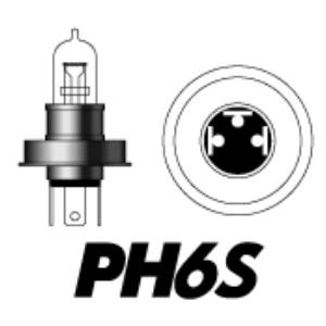 PH6S 12V50/40W P36T C(クリア)