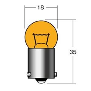 12V10W BAU15S(角度ピン) オレンジ