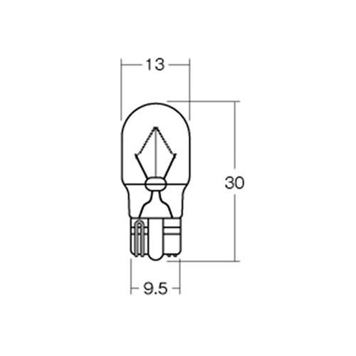 12v10w ウエッジ中(W2.1×9.5d) レッド