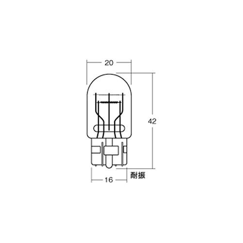 【ケース売り】BWB74 12v18/5w ウエッジ大ダブル(W3×16d)