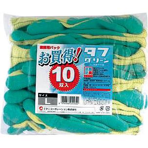 タフグリーン10双入 M