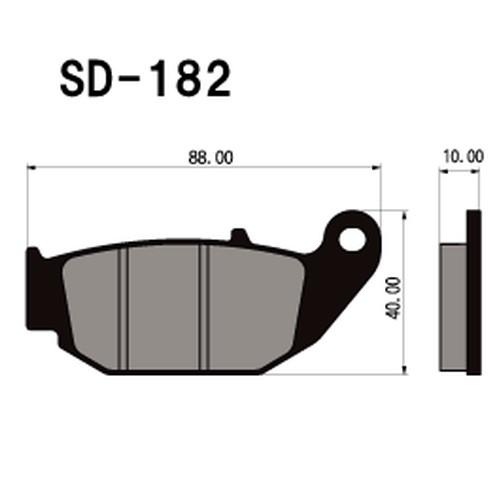 【訳あり】SD-182 レジンブレーキパッド