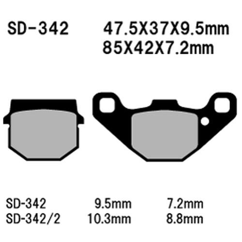 SD-342SN レジンスクーター用ブレーキパッド