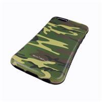 iphone6 高質TPUカバー グリーン カモフラージュ 厚みタイプ