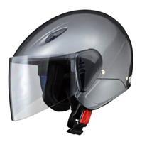 SERIO RE-35 セミジェットヘルメット ガンメタリック