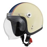 BARTON BC-10 ジェットヘルメット アイボリー×ネイビー