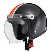 BARTON BC-10 ジェットヘルメット ブラック×オレンジ