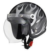 BARTON BC-10 ジェットヘルメット ブラックフレア