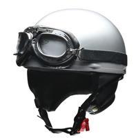 CROSS CR-751 ビンテージハーフヘルメット シルバー