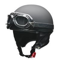 CROSS CR-751 ビンテージハーフヘルメット マットブラック