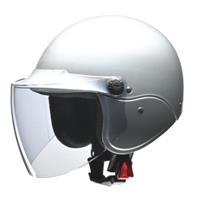 apiss AP-603 セミジェットヘルメット シルバー