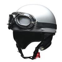 CROSS CR-750 ビンテージハーフヘルメット シルバー