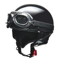 CROSS CR-750 ビンテージハーフヘルメット ブラックメタリック