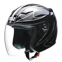 STRAX SJ-9 ジェットヘルメット ブラック M