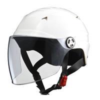 SERIO RE40 シールド付きハーフヘルメット ホワイト