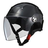 SERIO RE40 シールド付きハーフヘルメット ブラック