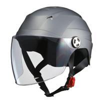 SERIO RE40 シールド付きハーフヘルメット スモーキーシルバー
