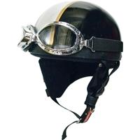 ビンテージヘルメット ブラック/シルバー
