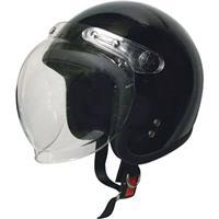 スモールジェットヘルメット 回転式シールド付 ブラック