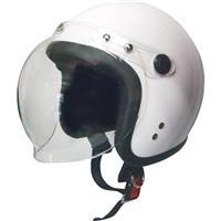 スモールジェットヘルメット 回転式シールド付 ホワイト