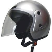 オープンフェイスヘルメット シルバー