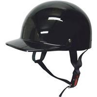 ハーフキャップヘルメット ブラック