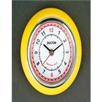 DULTON Kitchen clock with magnet Yellow