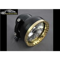 Kens Factory Neo-Fusion 4.5in Headlight Black/Brass Ring