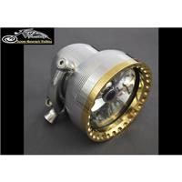 Kens Factory Neo-Fusion 4.5in Headlight Pol/Brass Ring