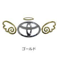 エンブレム ステッカー 3Dステッカーエンジェル/天使ノ羽 01 ゴールド