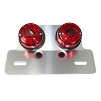 テールランプ丸型ツインテール2灯式レッド
