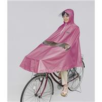 D-3PORA 自転車屋さんのポンチョ プレミアム ピンク