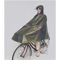 D-3PORA 自転車屋さんのポンチョ プレミアム カーキ