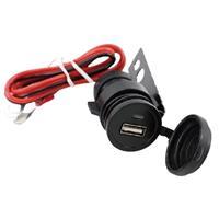 バイク、トラック用 防水USBポート 12V-24V兼用