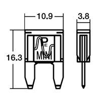NO351 BPF-7050 5Aミニヒューズ
