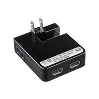 ACA-IP27SBK USB充電タップ型ACアダプタ 出力2.1A×2ポート