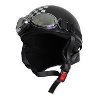 ビンテージヘルメット マットブラック/チェッカー