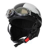 ビンテージヘルメット ホワイト/スター