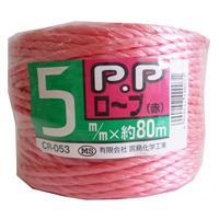 PPロープ 赤 5MM×80M