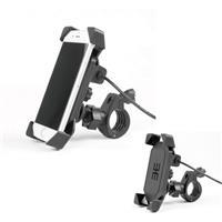 USBソケット 一体型携帯ホルダー マウントセット 防水キャップ付