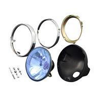 Brightecヘッドライト マルチリフレクター [ブルー ブラックケース付セット] (M8ボルト汎用)