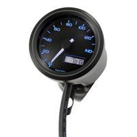 VELONA 電気式スピードメーター (非接触センサー無し) 140km/h ブラックボディ 3色LED