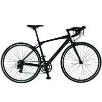 【直送】V320-AL 700C アルミフレーム ロードバイク 2×7 Speed ブラック 460mm