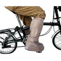 自転車屋さんのシューズカバー ベージュ