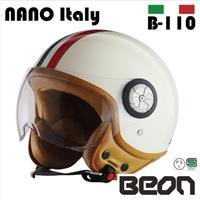 BEON スモールジェットヘルメット B110 フラッグ イタリア Mサイズ