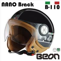BEON スモールジェットヘルメット B110 NANO ブラック Lサイズ