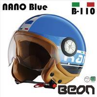 BEON スモールジェットヘルメット B110 NANO ブルー XLサイズ